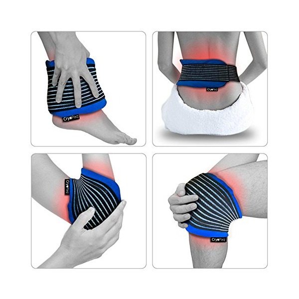 Reusable Hot Cold Heat Ice Gel Pack Back Knee Ankle Neck Compress Wrap