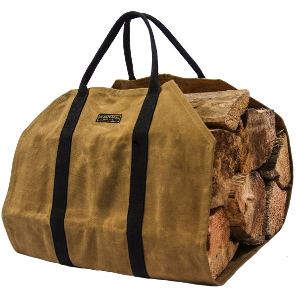 Readywares Waxed Canvas Firewood Carrier