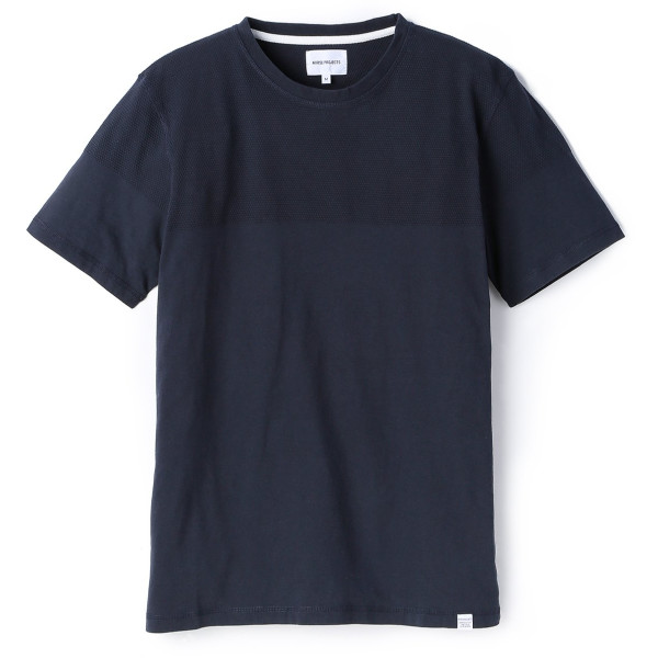 Norse Projects Men's Niels Bubble T-Shirt, Dark Navy
