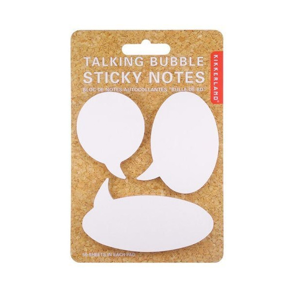Speech Bubble Sticky Notes by Kikkerland Office Product