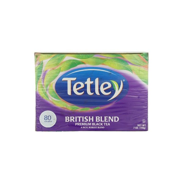 Tetley British Blend Premium Black, 80-Count Tea Bags (Pack of 6)