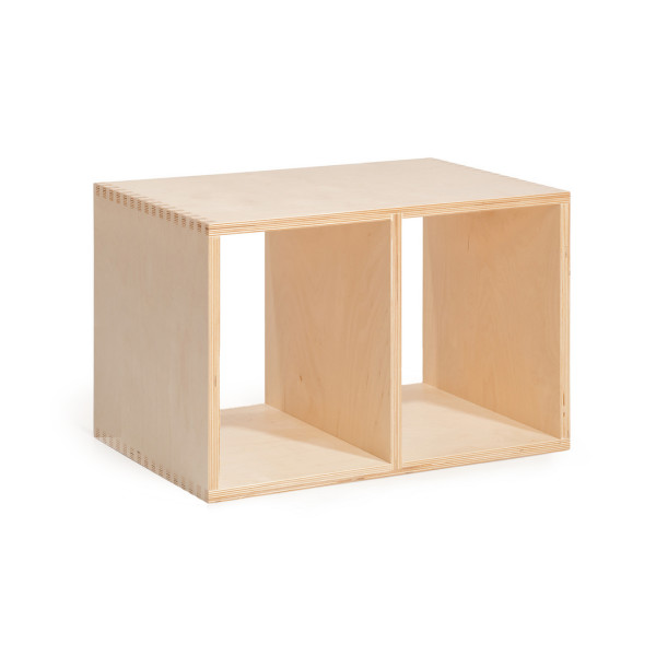 Offi Half-Sized Stacking Shelf, Birch