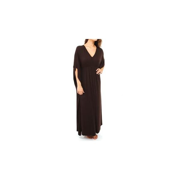 Natori Sleepwear Jersey Solid Knit Caftan (U70047) L/Kona