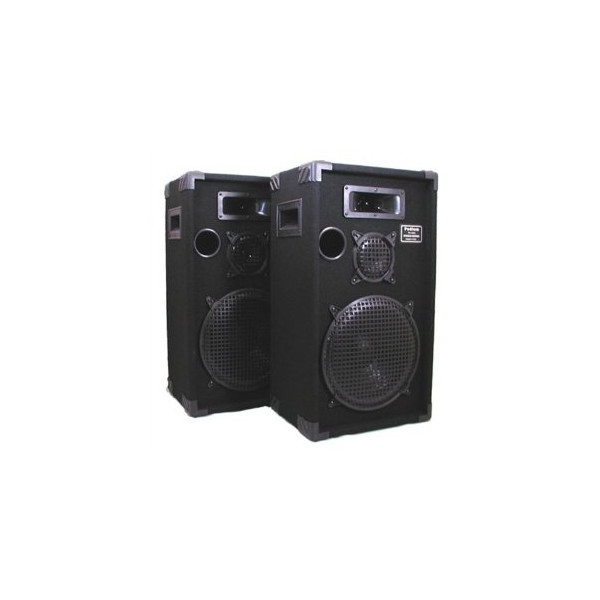 "Podium Pro 1200C Studio Speakers 12"" Three Way Pro Audio Monitor Pair for PA DJ Home or Karaoke"