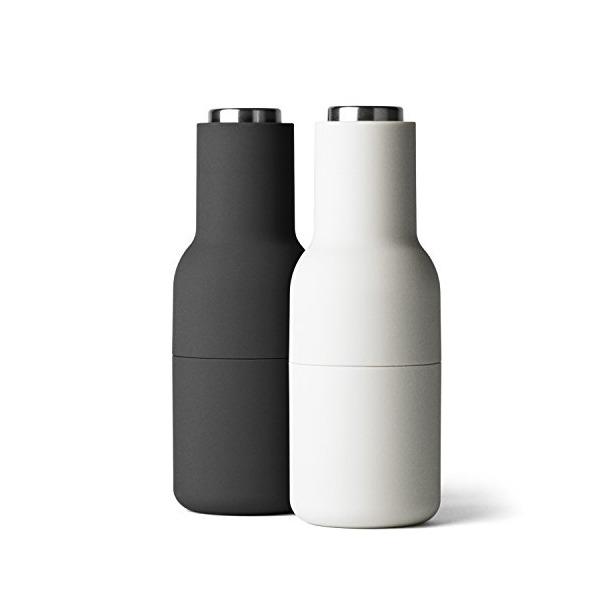MENU Bottle Grinder with Steel Lid, Ash/Carbon, Set of 2