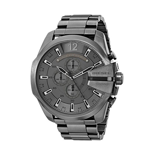 Diesel Men's DZ4282 Diesel Chief Series Analog Display Analog Quartz Grey Watch