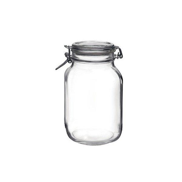 Bormioli Rocco Fido Round Clear Jar, 67-3/4-Ounce