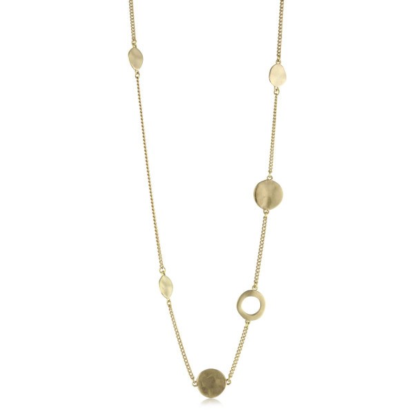 Kenneth Cole New York Gold Circle Long Illusion Necklace