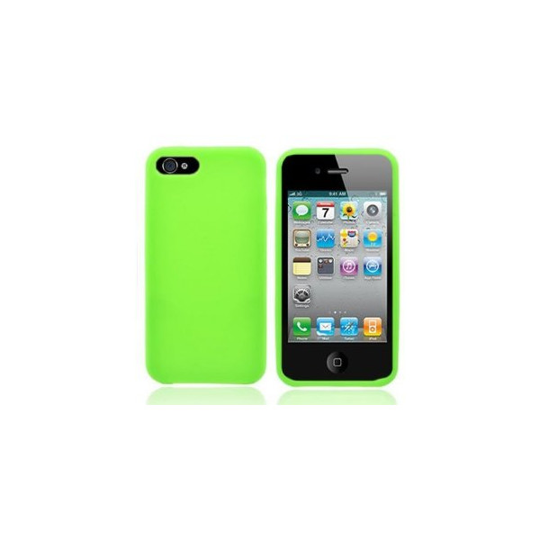 WIRELESS CENTRAL Brand Soft Silicone NEON GREEN Skin Cover Case for APPLE IPHONE 5 ATT [WCE288]
