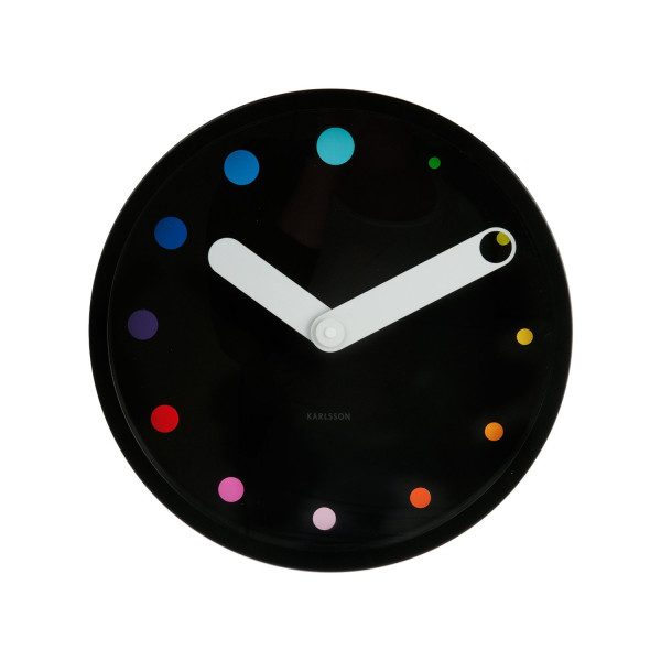 Present Time Karlsson Eclipse Wall Clock, Black