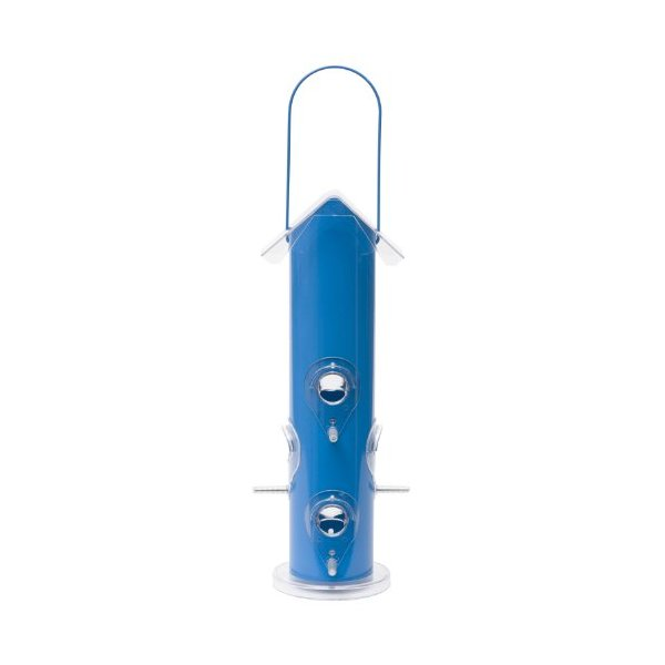 Perky-Pet 391 Blue Metal Tube Wild Bird Feeder