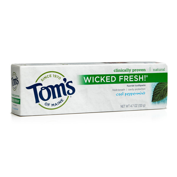 Tom's of Maine Wicked Fresh Paste, Cool Peppermint, 2 Count