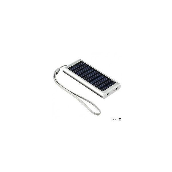 Solar charger for mobiles, mp3, pda, iphone, ipod, micro-usb