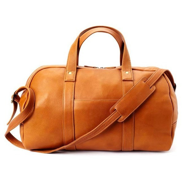 Colombian Leather Simplified Duffel, Natural
