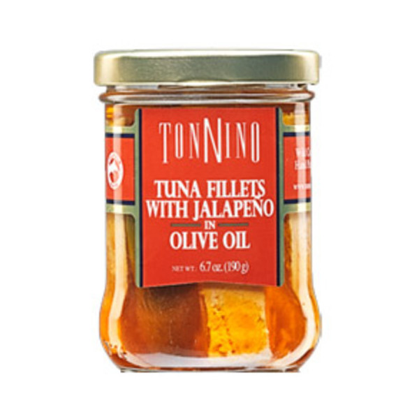 Tonnino Tuna Fillets with Jalapeno in Olive Oil 6.7 Oz. Jars Pack of 3
