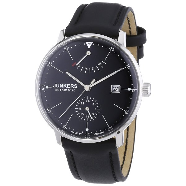 Junkers Bauhaus Automatic Watch with Power Reserve and 24hr Subdial 6060-2