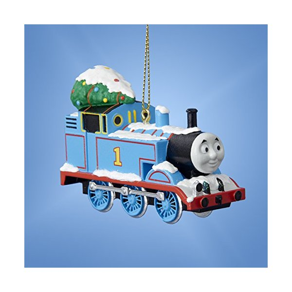 Thomas the Tank Engine with Tree Blue Train Christmas Ornament