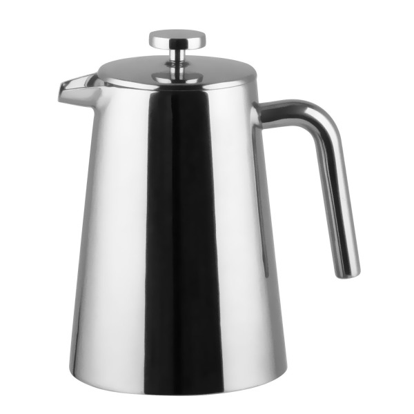 Bruntmor, KRAGLER 8 Cup (34oz) Double Wall 18/8 Stainless Steel French Coffee Press with No Drip Spout & Double Filter Screens