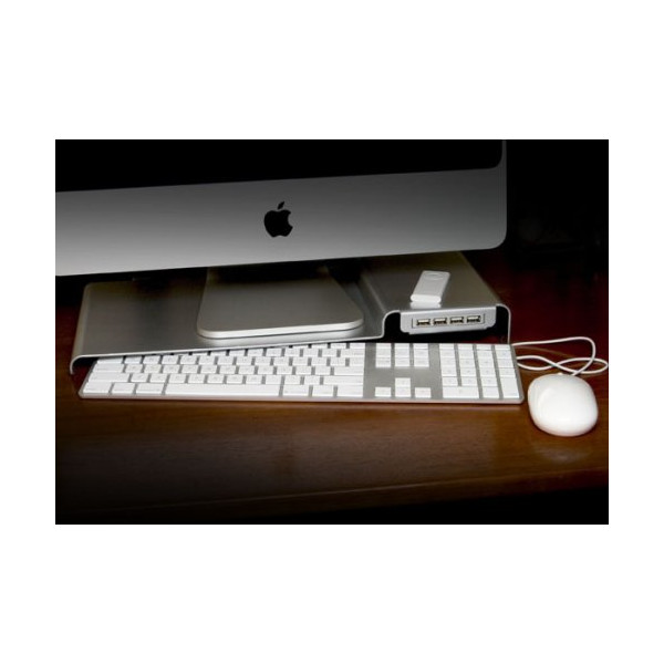 LowKey Stand with USB3.0 hub for iMac