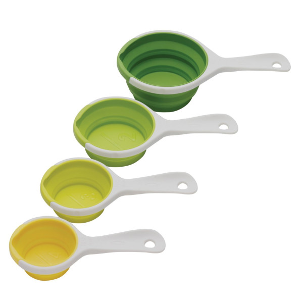 Chef'n SleekStor Pinch Pour Collapsible Measuring Cups, Tonal Colors