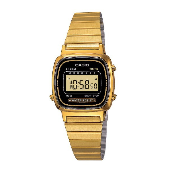 Casio Women's Daily Alarm Digital Gold-tone Watch
