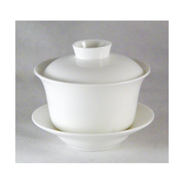 Bana Gaiwan (Chinese Traditional Tea Cup Comprised of Cup, Saucer and Lid - Made of Fine Bone China)