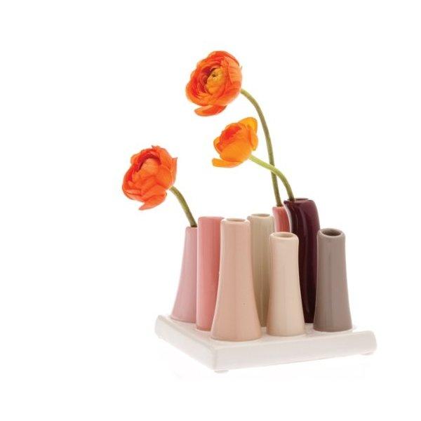 Chive, Pooley 2, 8-Tube Square, Multi  Vase