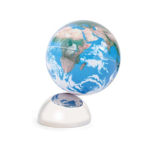 Kikkerland Magnetic Beautiful Earth Globe, Small