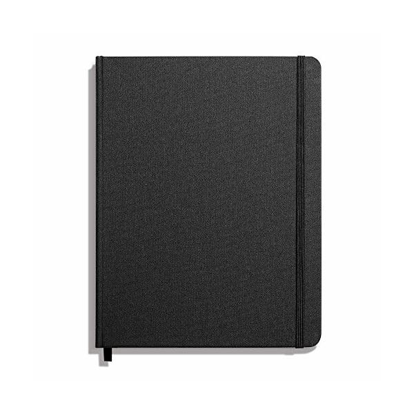 Shinola Journal, HardLinen, Ruled, Jet Black (7x9)