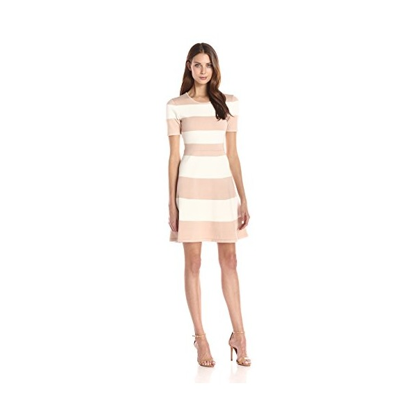 "BCBGMax Azria Women's ""Lylah"" Knit City Dress, Bare Pink Combo, X-Small"