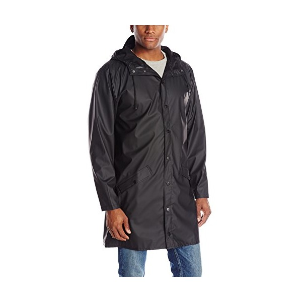 RAINS Long Jacket, Black