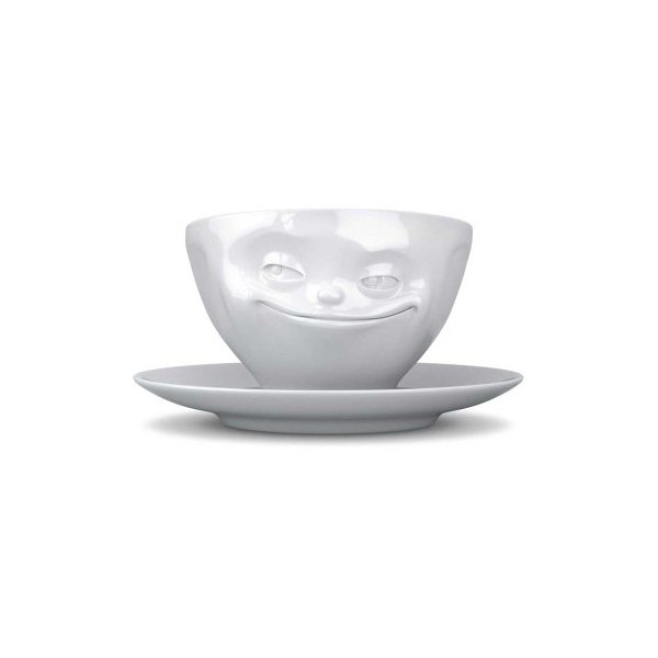 Tassen Face Coffee Cup with Saucer (Grinning)