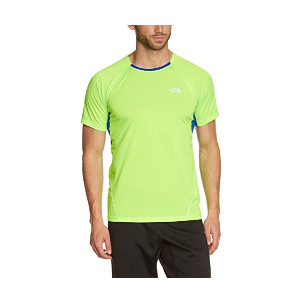 North Face Short Sleeve Better Than Naked Mens - Power Green/Honor Blue XL