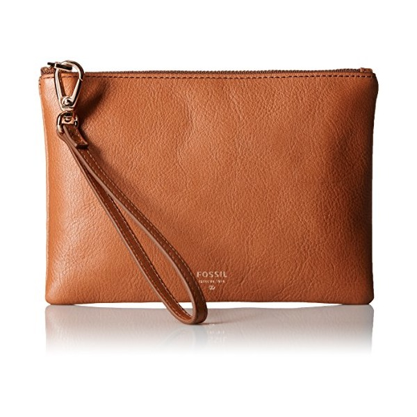 Fossil Small Wristlet, Camel, One Size