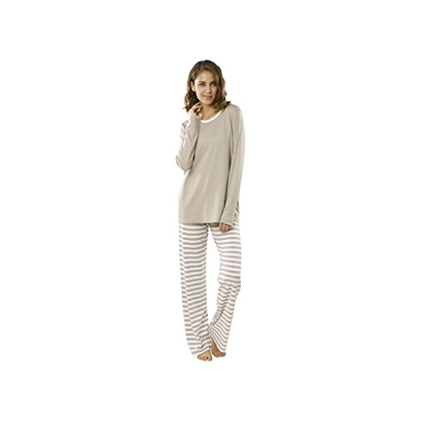 "jijamas® ""The Soul Mate"" Women's Pajama Set Large (Tall) in Pearl Grey"