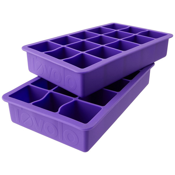Tovolo Perfect Cube Ice Trays, Vivid Violet - Set of 2