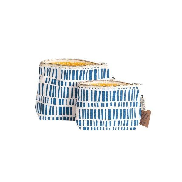 Lotta Jansdotter Zippered Pouch Set - Ani Blue
