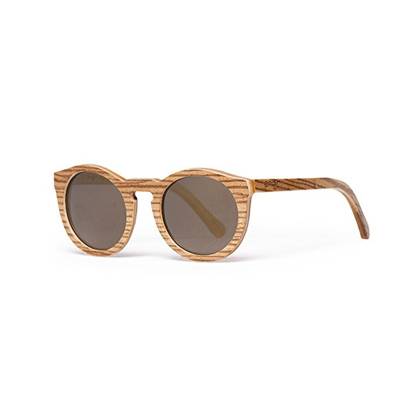 Proof Hayburn Polarized Round Sunglasses, Lacewood, 49 mm