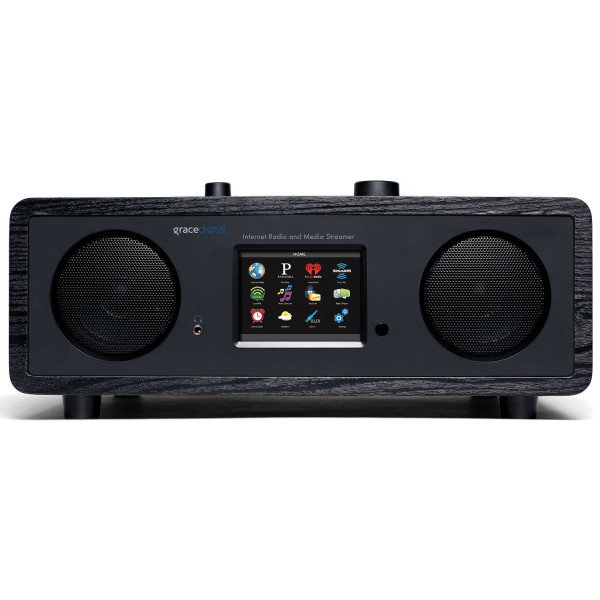 Grace Digital Stereo Wi-Fi Music System, 3.5-Inch Color Display