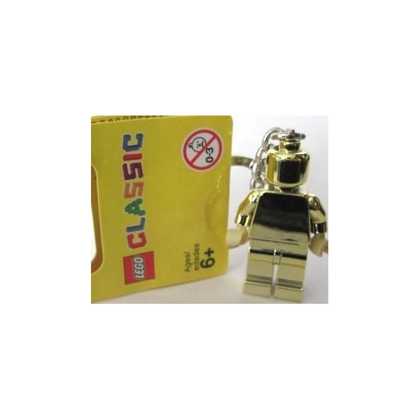 Lego 850807 Golden Minifigure Keychain Key Chain