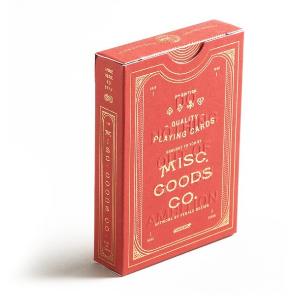 Red Misc. Goods Co. Playing Cards Deck Printed By Uspcc