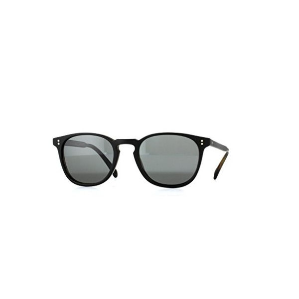 Oliver Peoples 5298 14538K Semi Matte Black Moss Tortoise Finley Esq. Sun Round