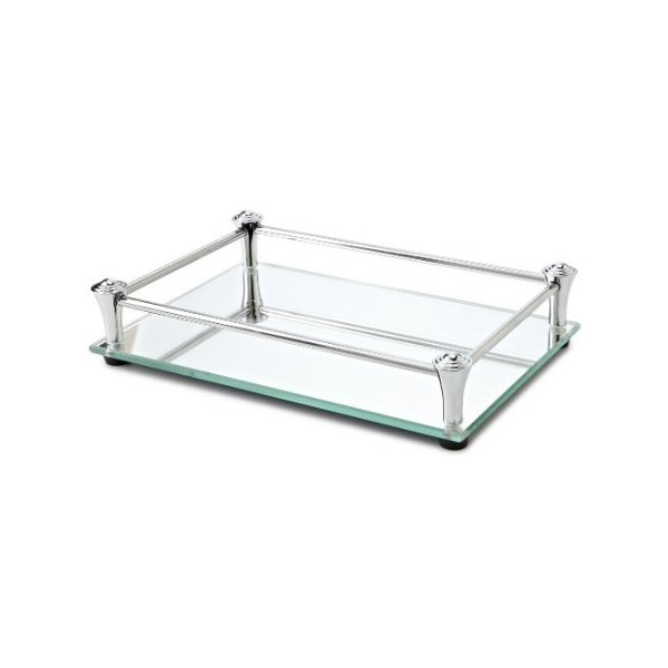 Taymor Square Vanity Mirror Tray with Chrome Rails