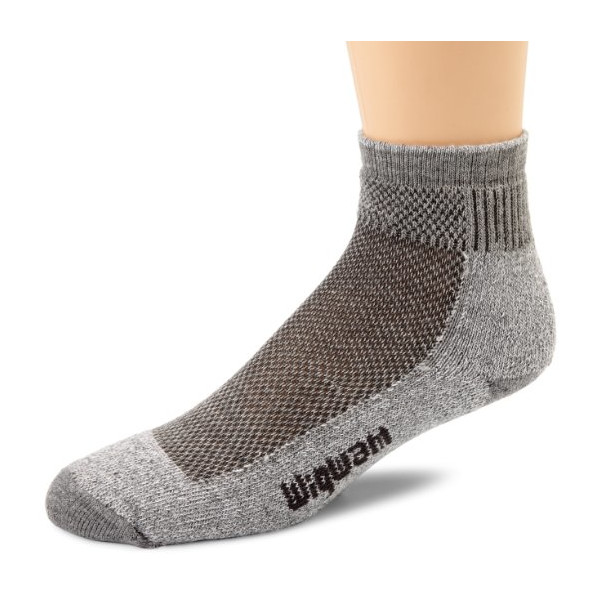 Wigwam Men's Cool-Lite Mid Hiker Pro Quarter Socks, Grey, X-Large