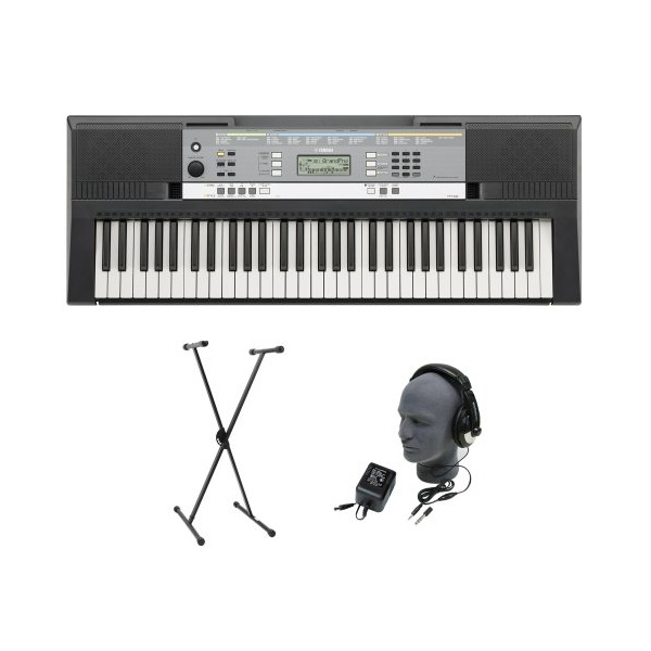 Yamaha YPT-240 61-Key Premium Keyboard Pack with Headphones, Power Supply, and Stand