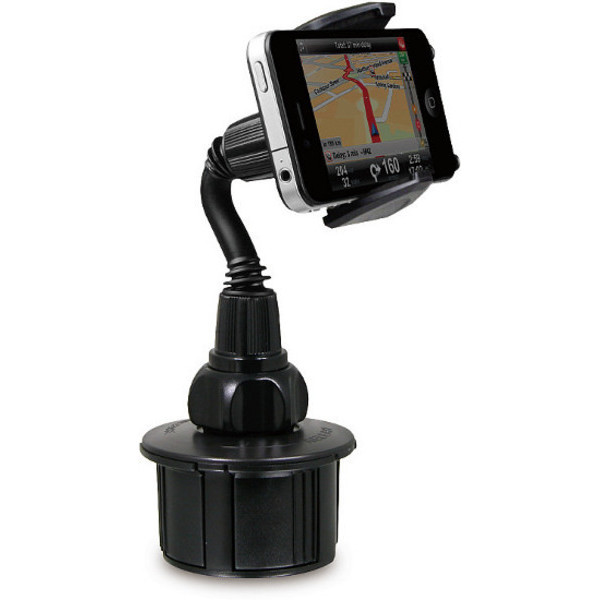 Macally mCup Adjustable Cup Holder for All Portable Devices in Vehicle (Black)