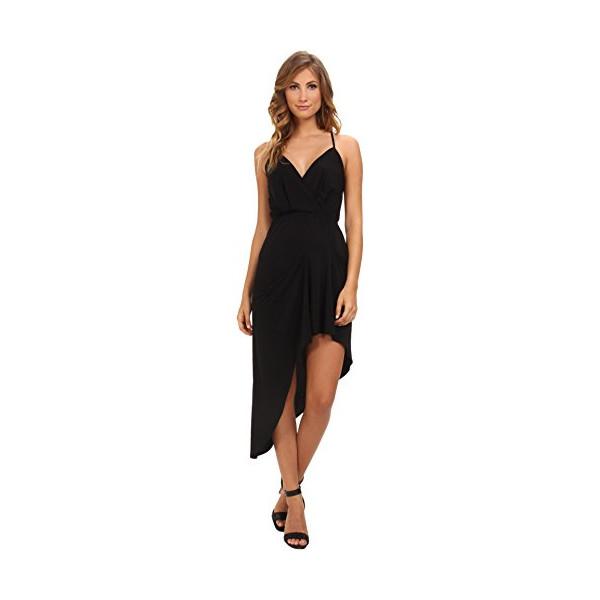 BCBGeneration Women's Sleeveless V-Neck Asym Shirt Cocktail Dress YDM68B49 Black Dress XXS (US 0)