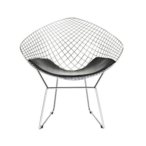 LexMod Bertoia Style Diamond Chair