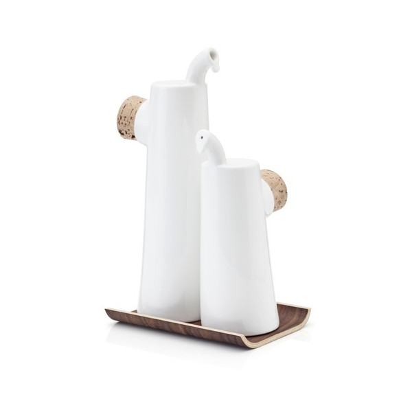 Tonfisk NOKKA White / Walnut Oil & Vinegar Set