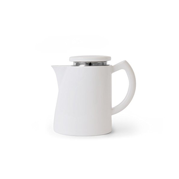 Sowden 1.3 Litre - 44 oz OSKAR Porcelain Jug and SUS 304 (18/8) Stainless Steel SoftBrew Coffee Filter, White